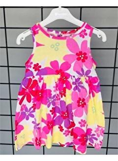 Riccotarz Kız Bebek Çiçekli Renkli Elbise